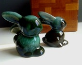 Blue Mountain Pottery Pair of Bunnies