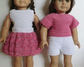 Crochet Pattern for American girl dolls - 230 Mix & Match Set