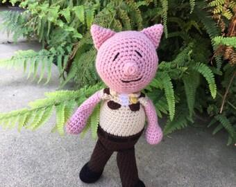 Crochet Police Pig Doll State Trooper Amigurumi