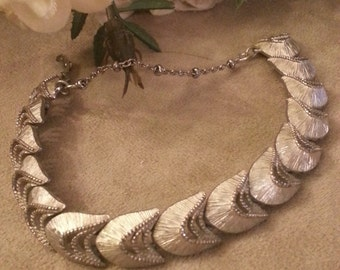 MONET Link Bracelet, Open Arrow Pattern, Silver Textured