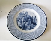 Johnson Bros Harry Potter Dinner Plate, Blue and White Ironstone Plate