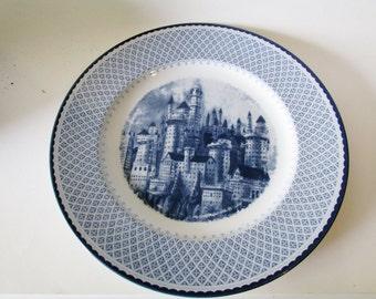 Johnson Bros Harry Potter Dinner Plate, Blue and White Ironstone Plate