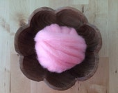 Wool for needle felting, Light Pink, 1/2 ounce or 1 ounce, craft supply for felted wool projects, pink needle felting wool, pink roving