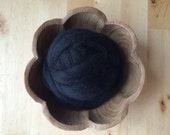 Wool roving supply for needle felting, Black, 1 ounce, black roving for needle-felting, craft supply for DIY felt making, wool for felting