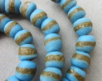 African Turquoise Kente Beads