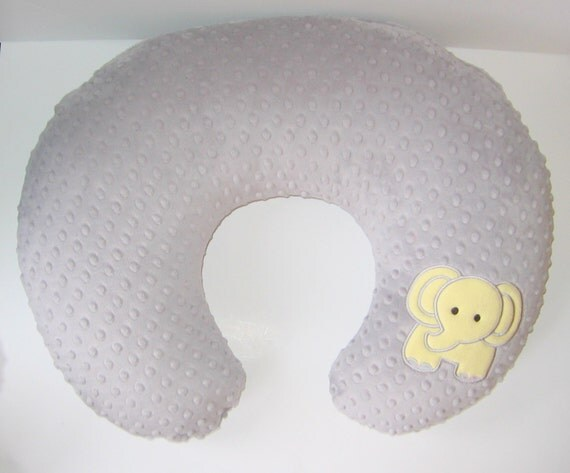Animal Nursing Pillow : Boppy Slipcover Boppy Cover Elephant Zoo Safari by MoMaCreates