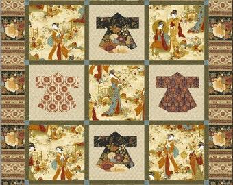 Kyoto Kimonos Quilt ePattern, 4782-1e, lap quilt pattern, lap quilt, asian quilt, Japanese Quilt
