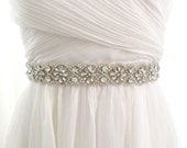 Bridal sash, bridal belt, rhinestone belt, rhinestone sash, luxury crystal sash, beaded rhinestone sash - KELLY
