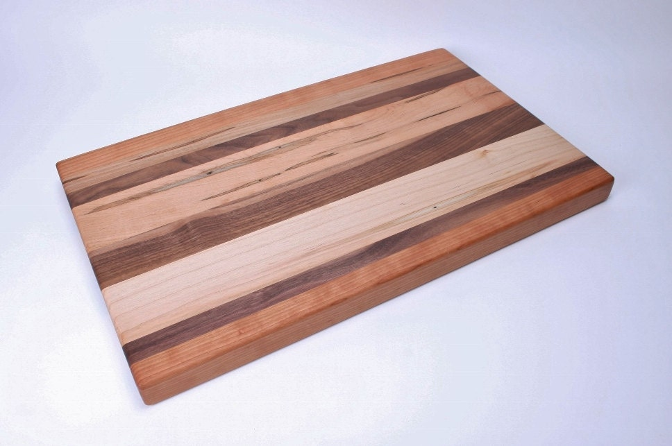 edge grain walnut cherry and maple cutting board 156. Black Bedroom Furniture Sets. Home Design Ideas