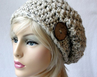 CROCHET  Hat Pattern, ALL SIZES, Toddler - Child - Adult, Steel Cut Oats Slouch Hat