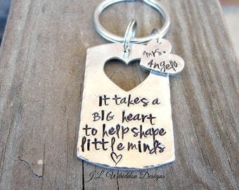 Teacher Gift - Personalized - Back To School - End of Year - Teacher Keychain - Teacher Appreciation
