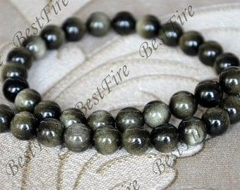 Single 10 mm Golden tiger eye stone round beads,Golden tiger eye gemstone beads loose strands 15inch