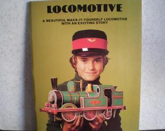 Vintage 1970's Children's Book - Make It Yourself - Paper Locomotive