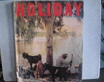 Vintage Mid Century Travel Magazine - Holiday - Israel - Monterey Coast - Barcelona
