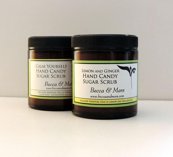 10 Hand Candy Sugar Scrub Party Favors, 4oz jars, Choose Your Scents, Sugar Scrub Favor