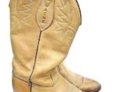 SALE Acme Brown Leather Cowboy Boots Men Size 8.5 D