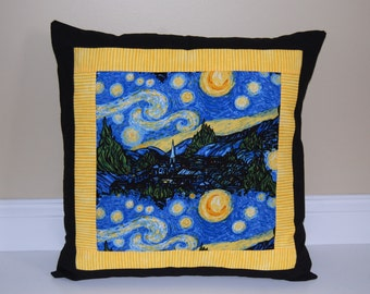 SALE, Starry Night Pillow, Van Gogh, Accent Pillow