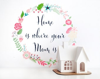Home is Where Your Mom Is Glitter House Paper Craft Kit Mothers Day Gift Putz House DIY Kit Victorian Christmas Ornament Crafty Mom Gift
