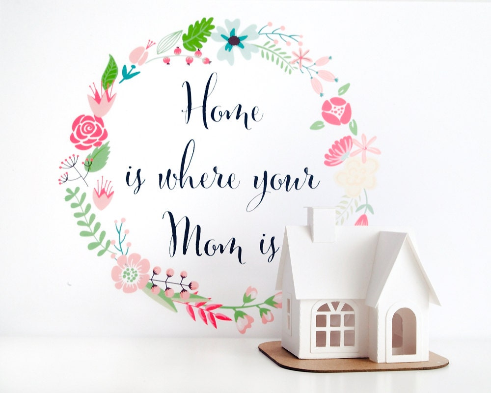 Home is where your mom is glitter house paper craft kit for Mother s day craft kits