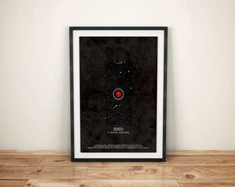 Full of Stars // a 2001: A Space Odyssey Alternative Movie Poster // HAL 9000, Jupiter, and Io and Obelisk