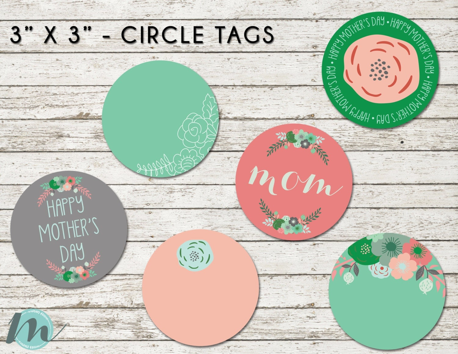 Mother S Day Tags: Happy Mother's Day, Mom, Gift Tags, Mother's Day Gift Tags