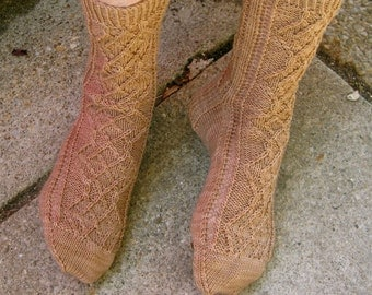 Knit Sock Pattern:  Madam Curie's Favorite Socks Knitting Pattern