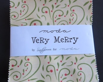 Moda - Very Merry By Sandy Gervais - Charm Pack
