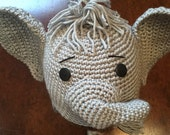 Elephant Hat, Crochet Elephant Hat, Grey/Grey Elephant Hat, Child Elephant Hat