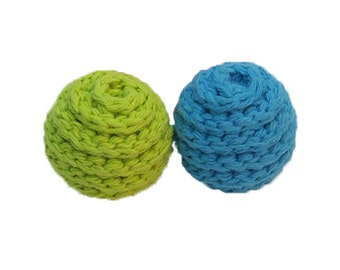 Medium Spiral Rattle Ball Cat Toys- Set of 2 - Choose Your Colors
