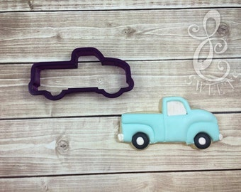Vintage Pickup Truck Cookie Cutter and Fondant Cutter