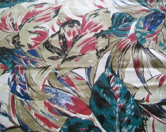 Fabric Destash -  Tropical Foliage Print Fabric - Marcus Brothers Fabric