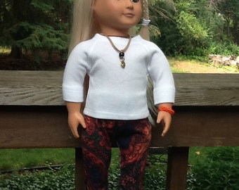 18 Inch Doll Clothes Shirt and Pants Outfit including Necklace