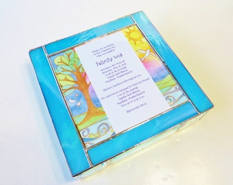 Stained Glass Keepsake Bat Mitzvah Invitation Gift Box Bar Mitzvah Gift Wedding Invitation Bride Groom Picture Engagement Custom Made