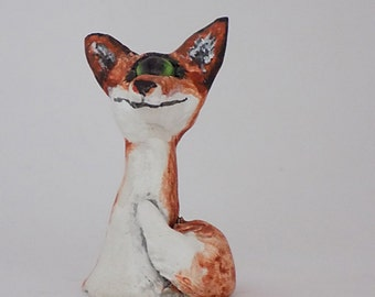 Phineas~ Fox Mini Sculpture