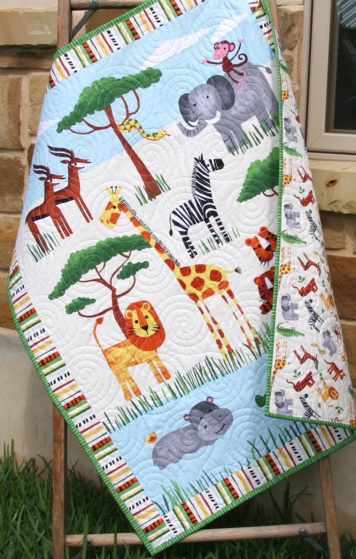 Gender Neutral Quilt Baby Blanket Nursery Crib Bedding Cot