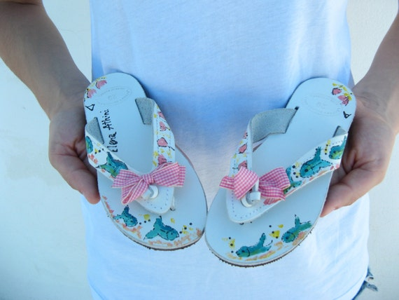 Childrens sandals! Leather sandals SALE size 29 Girls greek sandals, baby shower gift! Greek Sandals, for kids birthday  gift, girls shoes