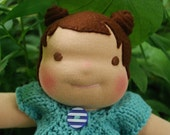 10 Inch Waldorf Doll- Seriously Cute with Pigtails