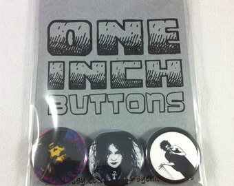 Sandman, Death of the Endless 3 pinback button set 1 inch in diameter