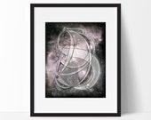 Nyx, Ancient Greek Goddess of Night, Pink Galaxy Art Print, 8x10 or 11x14