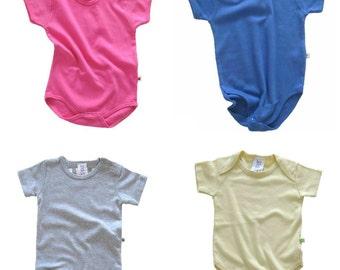 Solid Color Onesie - Plain Color Bodysuit - Short Sleeve (Select Color)