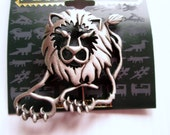 Lion Leo Vintage pin signed JJ Jonette Jewelry  brooch, new old stock, made in the USA, unique gift under 20, collectible Artifacts