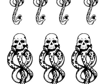 7x Dark Mark temporary tattoo cosplay convention Harry Potter