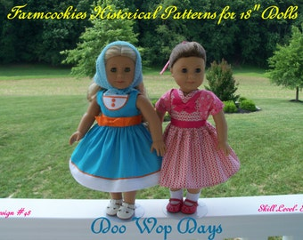 PDF Sewing Pattern / Doo Wop Days/ 1950's  Pattern for American Girl Maryellen
