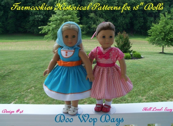 PRINTED Sewing PATTERN/ Doo Wop Days/ 1950's  Pattern Fits American Girl® Maryellen