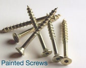 2 Painted Screws To Match All Wall Hangings- Painted Metal- Pick Your Color-Switch Plate Screws-Outlet Screws