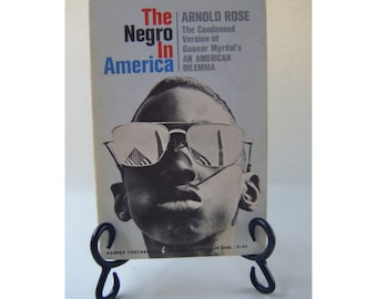 The Negro in America Vintage Book Black History African American Legal Law Civil Rights 1960s Freedom Social Justice Studies Sociology