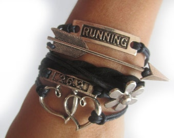 marathon bracelet -  marathon jewelry -  Running bracelet - the perfect little gift for runners
