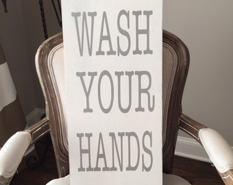 Wooden Sign {Wash your Hands}