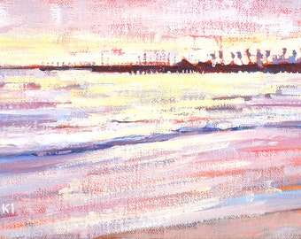 East Beach Santa Barbara, California Landscape Painting