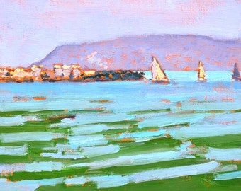 San Diego Bay Sailboats - Landscape Painting